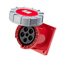 CEE Flanged Panel Sockets Straight(Straight Industrial Panel Sockets)(Flush Mounted Panel Sockets Straight) 125A 3P+N+E IP67 6H HTN4451