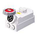 Interlocked Switched Sockets(Socket with Interlock Switch)(Socket with Switches and Mechanical Interlock) 16A 3P+E IP67 6H HTPZ1141