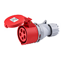 Splashproof Industrial Coupler 32A 3P+N+E IP44 6H HTN225