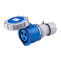 Waterproof Industrial Coupler 32A 2P+E IP67 6H HTN2231