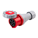 CEE Electrical Connectors(Industrial Couplers) 63A 3P+N+E IP67 6H HTN2351