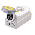 Interlocked Switched Sockets(Socket with Interlock Switch)(Socket with Switches and Mechanical Interlock) 16A 2P+E IP67 4H HTPZ1131-4