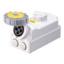 Interlocked Switched Sockets(Socket with Interlock Switch)(Socket with Switches and Mechanical Interlock) 16A 3P+E IP67 4H HTPZ1141-4