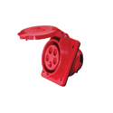 HT Series Old Type Sloping(Sloped) Panel Mounted Industrial Sockets