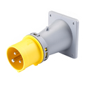 CEE Flange Inlet Sloping(Sloped Panel Mounted Inlet)(Flush Mounted Plug Sloped) 16A 2P+E IP44 4H HTN813-4