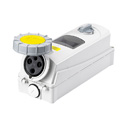Interlocked Switched Sockets(Socket with Interlock Switch)(Socket with Switches and Mechanical Interlock) 63A 2P+E IP67 4H HTPZ1331-4