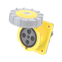 CEE Flanged Panel Sockets Sloped(Sloping Industrial Panel Sockets)(Flush Mounted Panel Sockets) 63A 3P+E IP67 4H HTN3341-4